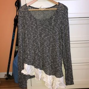 Anthropologie asymmetrical sweater